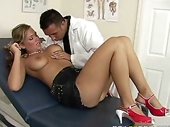 Fake doctor with big tits testing 2