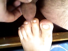 footjob sleeping Wife.....