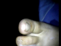 footjob sleeping wife soles 44