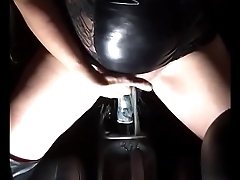 Horny MILF riding the gear pilot