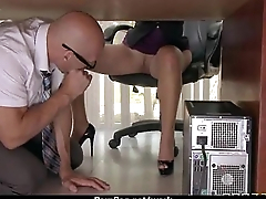 Office slut gets a willing fuck to release stress 9