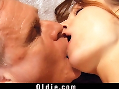 Old jerk nails the young pussy of smooth Russian Macy Nata