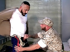 Buff bear fucks soldier