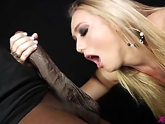 AJ sucking monster black cock then zooid fucked