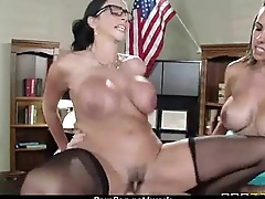 Office assistant shows her boss her flexibility 27