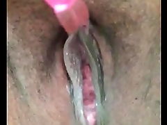 Latina wet pussy dripping &amp_ squirts