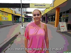 Public Pickups presents Czech Blue Amateur Getting Banged For Cash 32