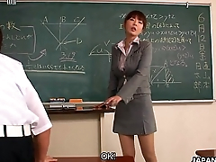 Instructor taking extra interest in couple of her students