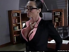 Busty chick is desperate be advisable for a raise and fucks her boss and earn it 26