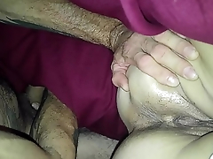 spreading wifes tight asshole and wet pussy