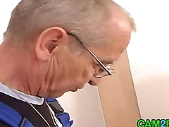 Young Blond together with Old Guy Free Teen Porn Video