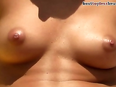 Perfect tits Topless out of work