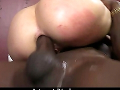 White Whore Screams in Wonder from Huge Black Flannel 27