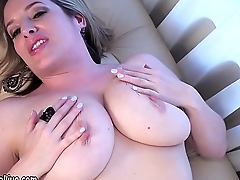 Natural Busty Maggie Green Masturbates &amp_ Cums!