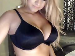 Amazing blonde doll Megan Aniston with natural tits
