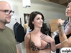 Sexy babes convinced to get pounded in exchange for money