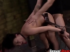 Fetish bdsm slut gets wam