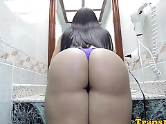 Glamorous latina trans together with will not hear of beautiful ass