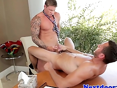 Office hunk assfucked surpassing his bureau