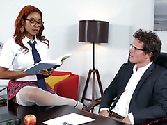 Jenna J Foxx seducing her boss Robby Echo upon the office