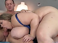 Popular boobed fatty Mandy Majestic gets fucked