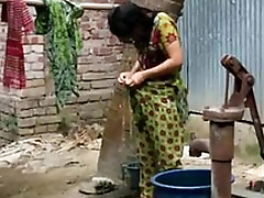 desi girl rinsing outdoor for full video http://zipvale.com/FfNN