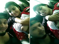 Cute Indian Girl Boob Sucking by lover