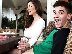 Hot mom Kendra Lust fucks and blows son's strong dick