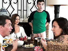 Sexy mom Kendra Lust riding son dick Jordi El Niño Polla