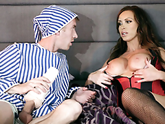 Nikki Benz wakes up because husband exploits XXX fleshlight next to her