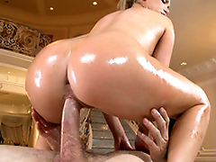MILF with hungry bawdy cleft Nikki Benz performs XXX cock-riding in big hall
