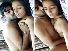 Today Exclusive- Super Hot Look Desi Girl Boobs Pressing And Hard Fucked By Hubby