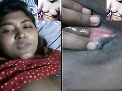 Today Exclusive -Sexy Desi Girl Showing Her Boobs and Pussy and Fucking