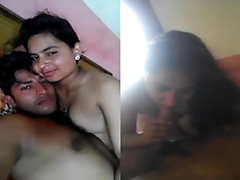 Exclusive- Indian Lover Kissing and Blowjob -part2