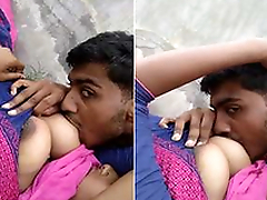 Desi Girl Boob Sucking By follower groupie Outdoor