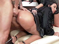 Anissa Kate is anally bonked in personify of XXX rock luminary Amel Annoga