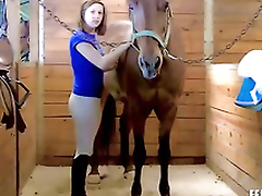 Girl, 19, makes living cleaning horse