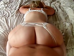 Mom lies on a catch bed shaking huge aggravation before sex in adored XXX positions