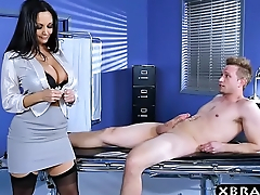 Huge boobs doctor Ava Addams fixes big dick problem