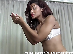 Let me jerk you off before I make you eat someone's skin cum CEI